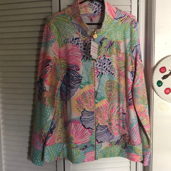 Lilly Pulitzer Jackets & Blazers - NWT Lilly Pulitzer Reagan zip up jacket XL
